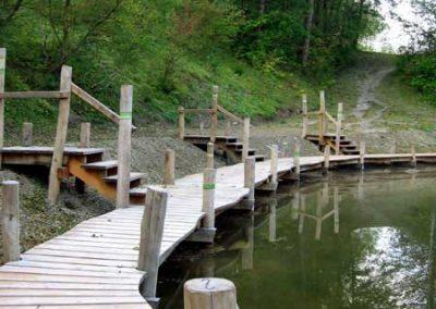 Badesteg aus Robinien-Holz