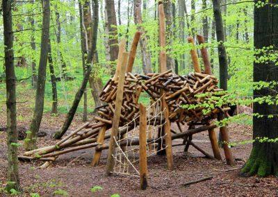 Uhu-Horst in Bungsberg aus entsplintetem Robinien-Holz